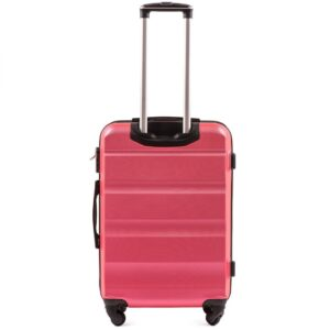 Средний чемодан (M) Wings AT01 | пластиковый | розово-красный | 64x44x26 см | 62 л | 3,15 кг