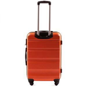 Средний чемодан (M) Wings AT01 | пластиковый | оранжевый | 64x44x26 см | 62 л | 3,15 кг