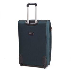 Большой чемодан (L) Wings 1706-2k | тканевый | темно-зеленый | 71x46x31(+5) см | 88/104 л | 4,05 кг