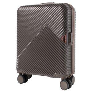 Маленький чемодан (S) Wings WN01 | ABS + поликарбонат | коричневый | 55x40x20 см | 35 л | 2,6 кг