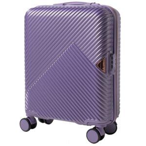 Маленький чемодан (S) Wings WN01 | ABS + поликарбонат | серебристо-фиолетовый | 55x40x20 см | 35 л | 2,6 кг