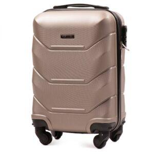 Мини чемодан (XS) Wings 147 | пластиковый | шампань | 50x32x18 см | 27 л | 2,4 кг