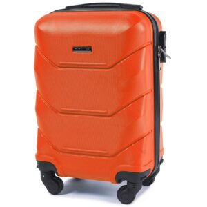 Мини чемодан (XS) Wings 147 | пластиковый | оранжевый | 50x32x18 см | 27 л | 2,4 кг