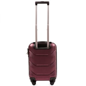 Мини чемодан (XS) Wings 147 | пластиковый | бордовый | 50x32x18 см | 27 л | 2,4 кг
