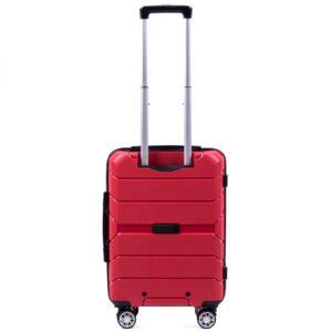Маленький чемодан (S) Wings PP05 | полипропилен | красный | 55x40x20 см | 35 л | 2,6 кг
