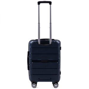 Маленький чемодан (S) Wings PP05 | полипропилен | темно-синий | 55x40x20 см | 35 л | 2,6 кг