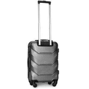 Маленький чемодан (S) Fly 147 | пластиковый | серебряный | 55x40x20 см | 35 л | 2,6 кг