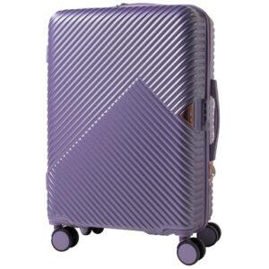 Средний чемодан (M) Wings WN01   ABS + поликарбонат   серебристо-фиолетовый   64x44x26 см   62 л   3,15 кг