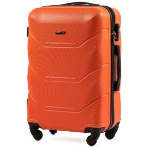 Средний чемодан (M) Wings 147 | пластиковый | оранжевый | 64x44x26 см | 62 л | 3,15 кг