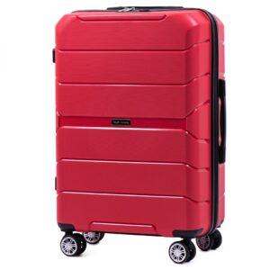 Средний чемодан (M) Wings PP05 | полипропилен | красный | 64x44x26 см | 62 л | 3,15 кг