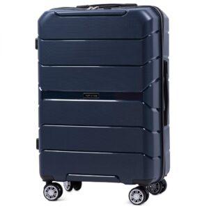 Средний чемодан (M) Wings PP05 | полипропилен | темно-синий | 64x44x26 см | 62 л | 3,15 кг