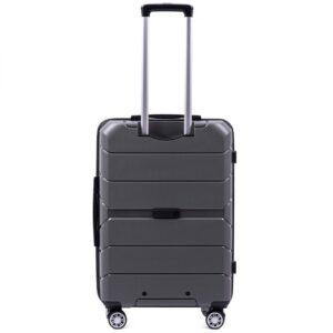 Средний чемодан (M) Wings PP05 | полипропилен | темно-серый | 64x44x26 см | 62 л | 3,15 кг