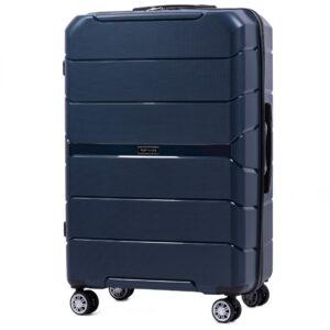 Большой чемодан (L) Wings PP05 | полипропилен | темно-синий | 74x50x29 см | 86 л | 3,95 кг