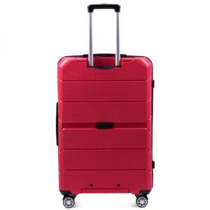 Большой чемодан (L) Wings PP05 | полипропилен | красный | 74x50x29 см | 86 л | 3,95 кг