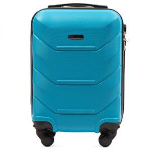 Мини чемодан (XS) Wings 147 | пластиковый | голубой | 50x32x18 см | 27 л | 2,4 кг