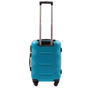 Маленький чемодан (S) Wings 147 | пластиковый | голубой | 55x40x20 см | 35 л | 2,6 кг