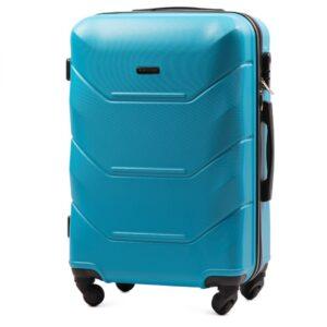 Средний чемодан (M) Wings 147 | пластиковый | голубой | 64x44x26 см | 62 л | 3,15 кг
