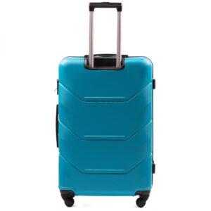 Большой чемодан (L) Wings 147 | пластиковый | голубой | 74x50x29 см | 86 л | 3,95 кг