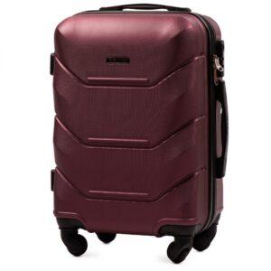 Маленький чемодан (S) Wings 147 | пластиковый | бордовый | 55x40x20 см | 35 л | 2,6 кг