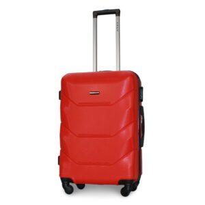 Средний чемодан (M) Fly 147 | пластиковый | красный | 64x44x26 см | 62 л | 3,15 кг
