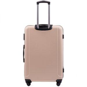 Большой чемодан (L) Wings 888 | пластиковый | молочный | 74x50x29 см | 86 л | 3,95 кг