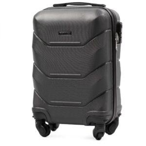 Мини чемодан (XS) Wings 147 | пластиковый | темно-серый | 50x32x18 см | 27 л | 2,4 кг