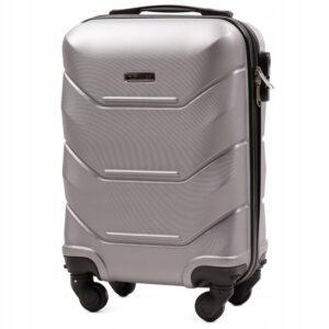 Мини чемодан (XS) Wings 147 | пластиковый | серебряный | 50x32x18 см | 27 л | 2,4 кг