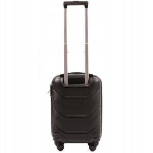 Мини чемодан (XS) Wings 147 | пластиковый | черный | 50x32x18 см | 27 л | 2,4 кг