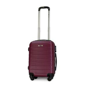 Маленький чемодан (S) Fly 1107 | пластиковый | темно-фиолетовый | 55x40x20 см | 35 л | 2,6 кг
