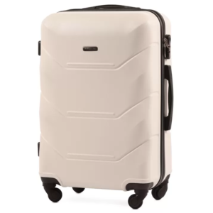 Маленький чемодан (S) Wings 147 | пластиковый | молочный | 55x40x20 см | 35 л | 2,6 кг