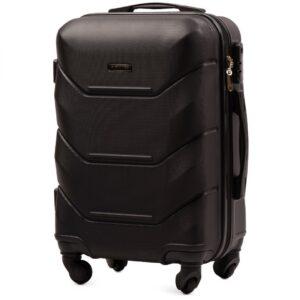 Маленький чемодан (S) Wings 147 | пластиковый | черный | 55x40x20 см | 35 л | 2,6 кг
