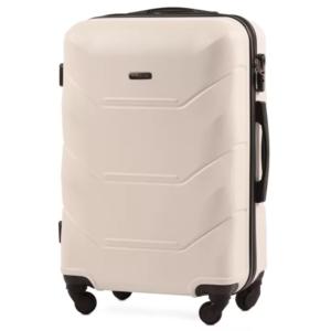 Большой чемодан (L) Wings 147 | пластиковый | молочный | 74x50x29 см | 86 л | 3,95 кг