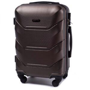 Мини чемодан (XS) Wings 147 | пластиковый | коричневый | 50x32x18 см | 27 л | 2,4 кг