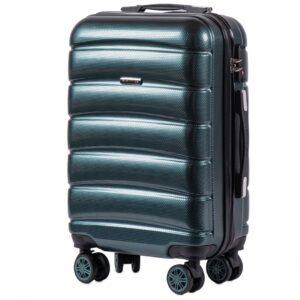 Маленький чемодан (S) Wings 160 | поликарбонат | темно-зеленый | 55x40x20 см | 35 л | 2,6 кг