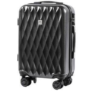 Маленький чемодан (S) Wings 190 | поликарбонат | темно-серый | 55x40x20 см | 35 л | 2,6 кг