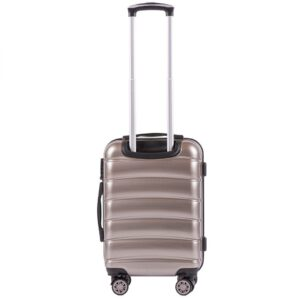 Маленький чемодан (S) Wings 160 | поликарбонат | бронзовый | 55x40x20 см | 35 л | 2,6 кг