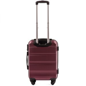 Маленький чемодан (S) на 4 колесах | Wings AT01 | пластиковый | для ручной клади