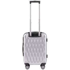 Маленький чемодан (S) Wings 190 | поликарбонат | серебряный | 55x40x20 см | 35 л | 2,6 кг