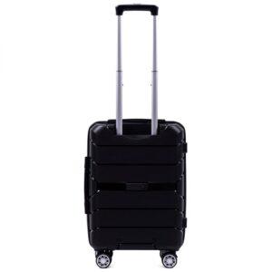 Маленький чемодан (S) Wings PP05 | полипропилен | черный | 55x40x20 см | 35 л | 2,6 кг