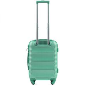 Маленький чемодан (S) Wings K-203 | пластиковый | ментоловый | 55x40x20 см | 35 л | 2,6 кг