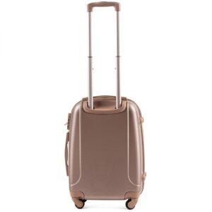 Маленький чемодан (S) Wings K-310 | пластиковый | шампань | 55x40x20(+5) см | 35/47 л | 2,6 кг