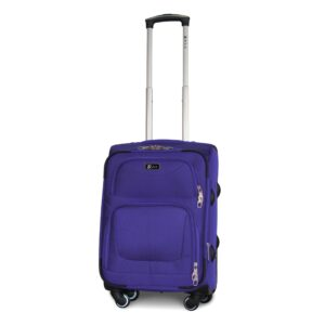 Маленький чемодан (S) Fly 1220-4k   тканевый   фиолетовый   54х37х24(+5) см   37/45 л   3,25 кг