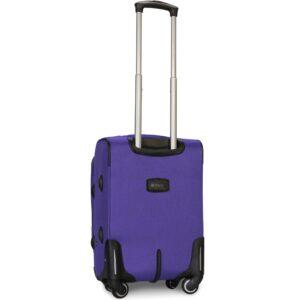 Маленький чемодан (S) Fly 1304-4k   тканевый   фиолетовый   54х37х24(+5) см   37/45 л   3,25 кг