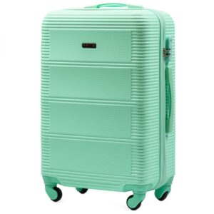 Средний чемодан (M) Wings K-203 | пластиковый | ментоловый | 64x44x26 см | 62 л | 3,15 кг