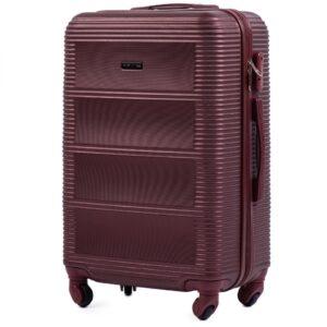 Средний чемодан (M) Wings K-203 | пластиковый | бордовый | 64x44x26 см | 62 л | 3,15 кг