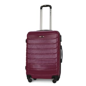 Средний чемодан (M) Fly 1107 | пластиковый | темно-фиолетовый | 64x44x26 см | 62 л | 3,15 кг