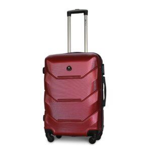 Средний чемодан (M) Fly 147 | пластиковый | бордовый | 64x44x26 см | 62 л | 3,15 кг