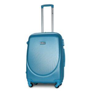 Средний чемодан (M) Fly 310-F | пластиковый | серебристо-синий | 64x44x26 см | 62 л | 3,15 кг