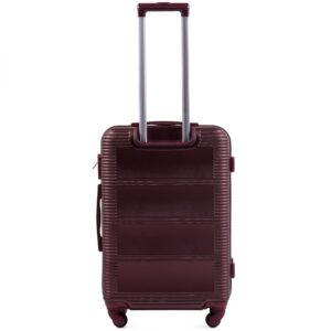 Большой чемодан (L) Wings K-203 | пластиковый | бордовый | 74x50x29 см | 86 л | 3,95 кг