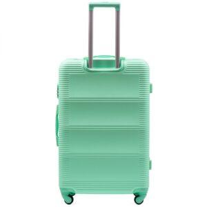 Большой чемодан (L) Wings K-203 | пластиковый | ментоловый | 74x50x29 см | 86 л | 3,95 кг